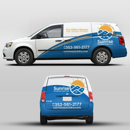 Simple but bold eye catching vehicle wrap
