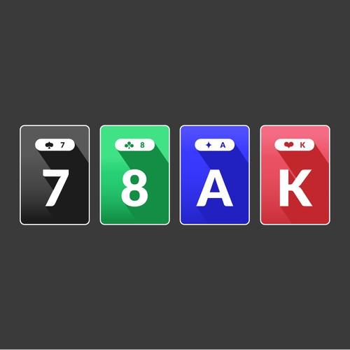 Card set concept for online poker app