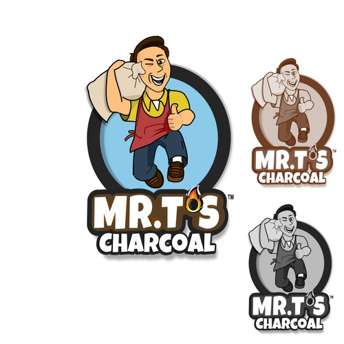 Logo Design for Mr T's charcoal