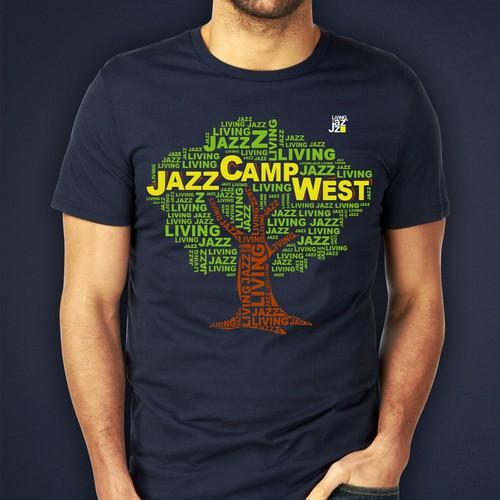 Jazz Camp West 2015 T-shirt design