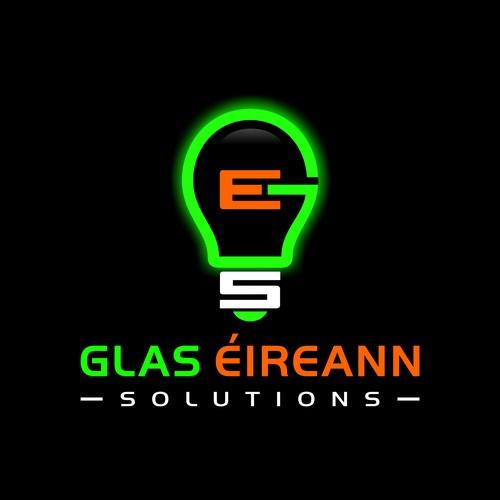 Bold glowing logo