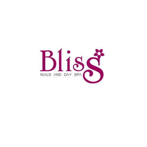 Bliss. Logo for nails and day spa