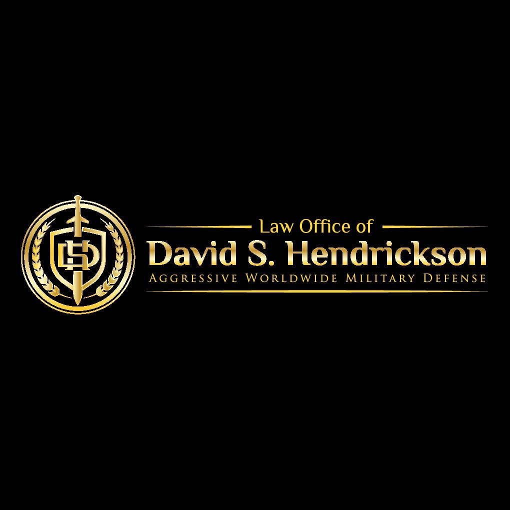 logo and letterhead for military criminal defense law firm