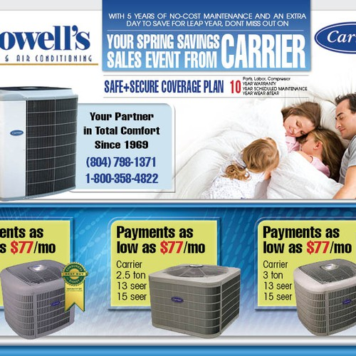 print or packaging design for Howell's Heating & Air Conditioning