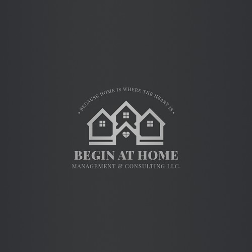 Begin At Home Management & Consulting LLC | Logo Design