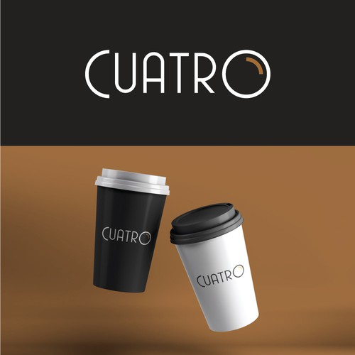 Clean logo for coffee brand