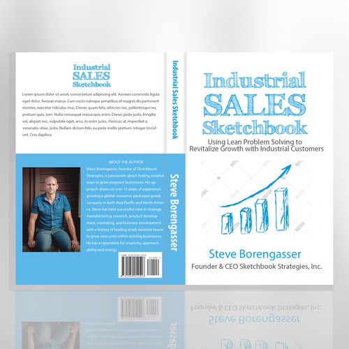 Blue and white cover design