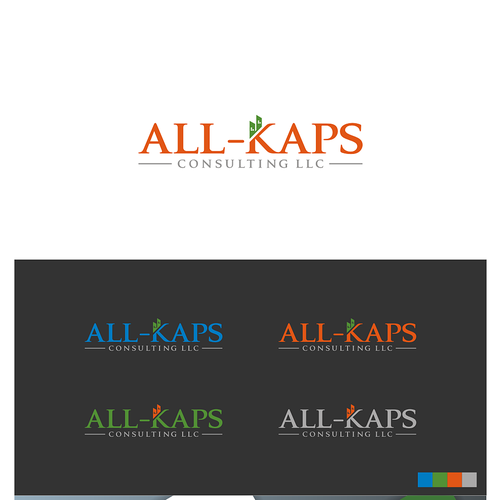 Create a cool, catchy, green-minded logo for ALL-KAPS!!!!