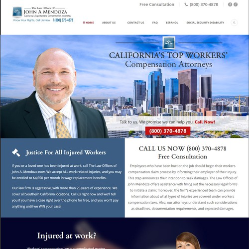 Website Header Banner For John A Mendoza Law Offices