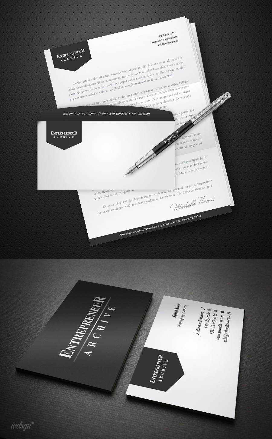 Entrepreneur Archive needs a new stationery