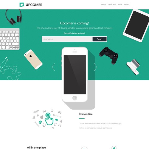 Upcomer is coming! Design the next big consumer app/site!