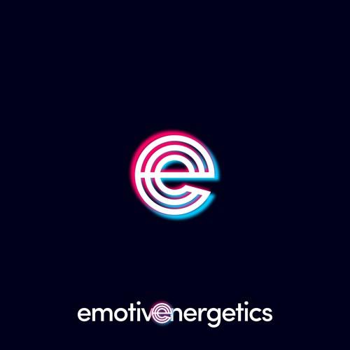 Tiktok style logo for letter E