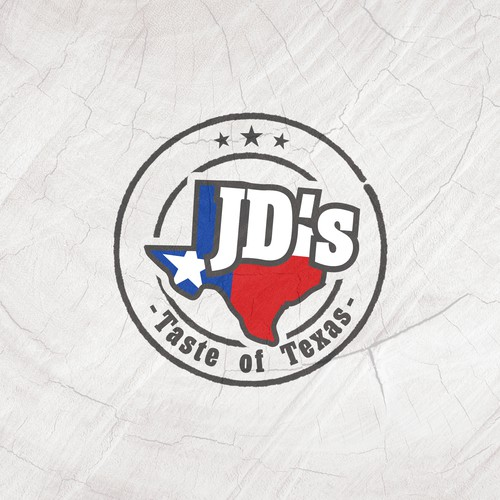 Logo for Texas style BBQ