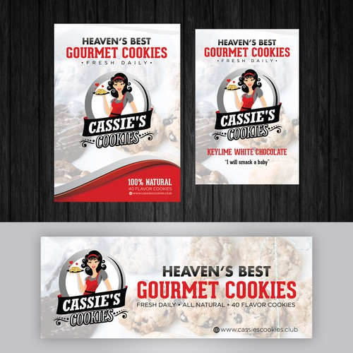 Clean, Simple and Modern design for a Cookies Shop