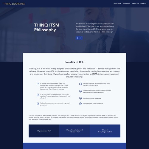 SME Consultancy landing page design