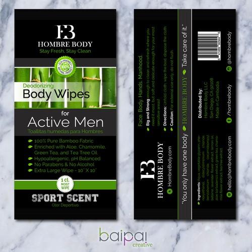 Hombre Body Sachet Packaging