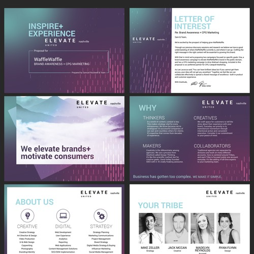 Bold and modern powerpoint design for marketing agency