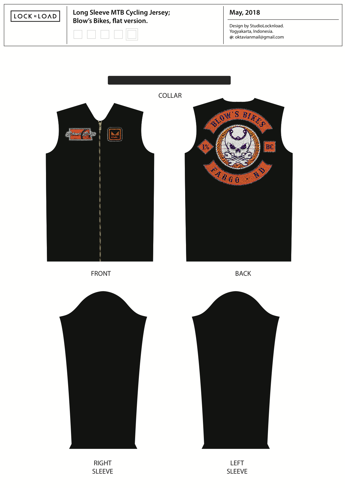 Jersey Design for Blow's Bikes
