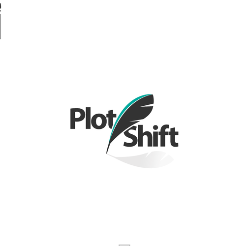 Create a modern logo for a collaborative writing platform: Plot Shift