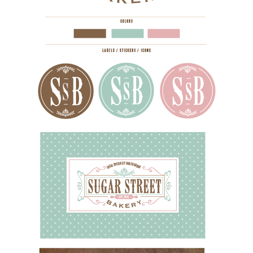 Create a sweet design for Sugar Street Bakery