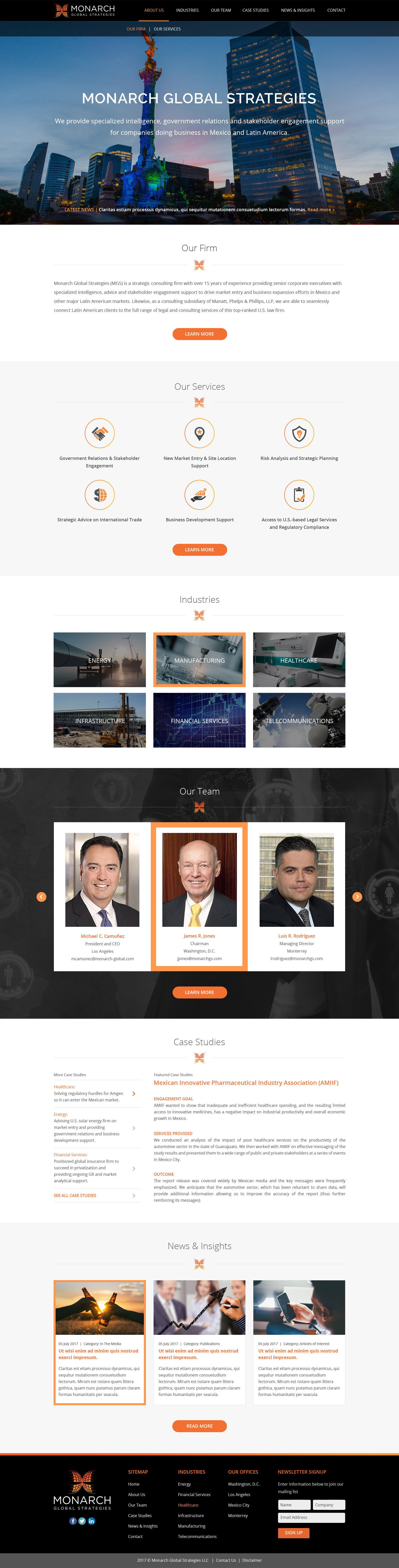 Design rebranded website for U.S.-Mexico consulting business