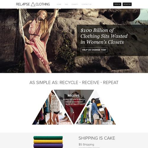 Website for High Profile New Fashion Tech Company.