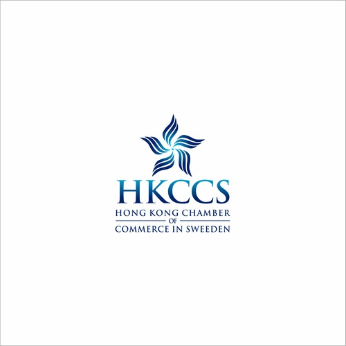 Logotype for HKCCS, Hong Kong Chamber of Commerce In Sweden.