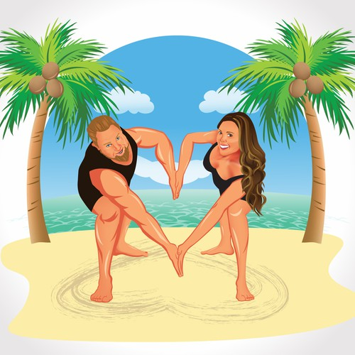COUPLES FITNESS WORKOUT VIDEO....ONE OF A KIND LOGO WANTED!!! :)