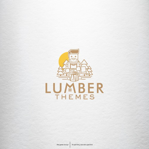 logo concept for Lumber Themes