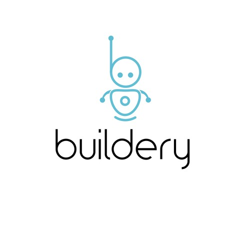 Robot logo for software company. Clean and simple.