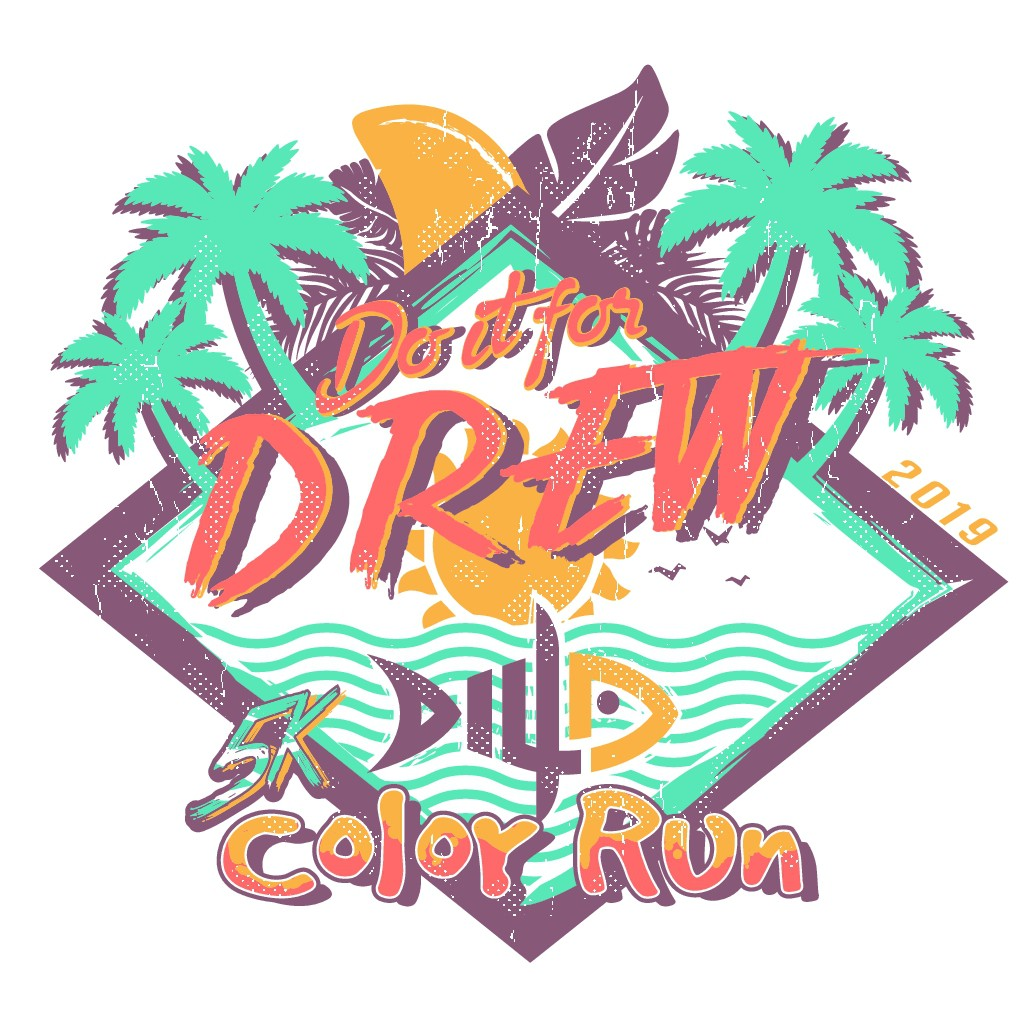 T-shirt design for the Do It For Drew 5K Color Run