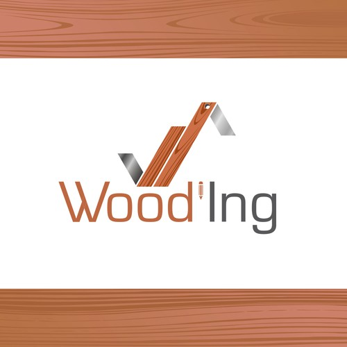Logo for an engineering and design staff in wood construction.