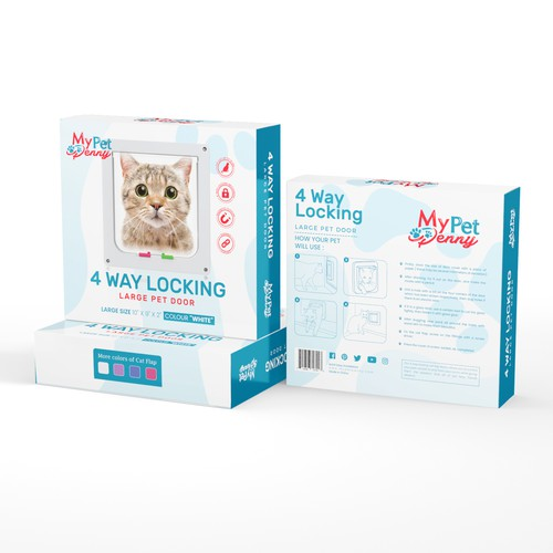 eCommerce pet store looking for engaging product package design for a cat pet door