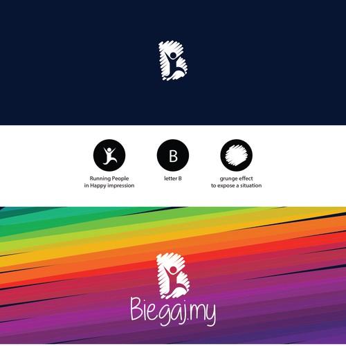 Biegaj.my - App logo for runner community