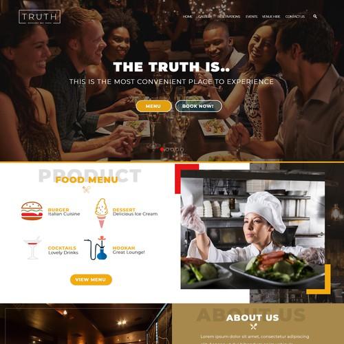 Wesbite for new Restaurant and Bar