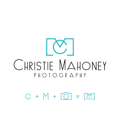 Smart initial logo for photographer