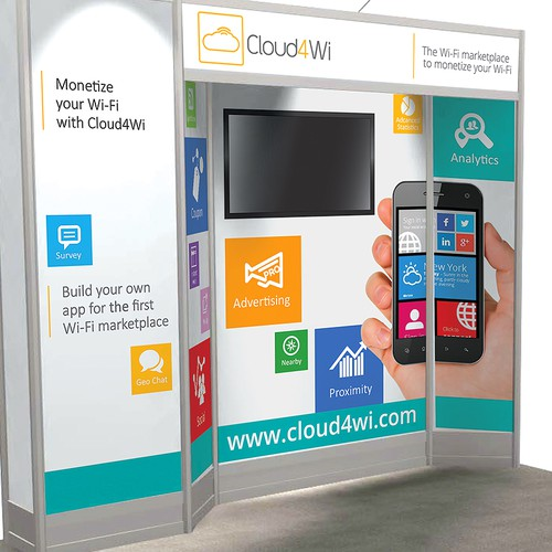 Create an awesome trade show display for Cloud4Wi!