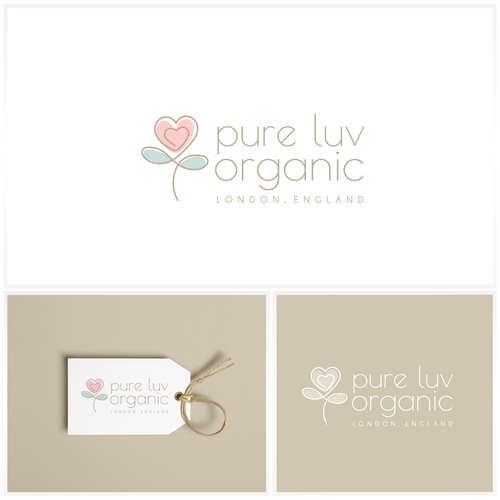 Simple logo design for eco maternity and baby wear brand