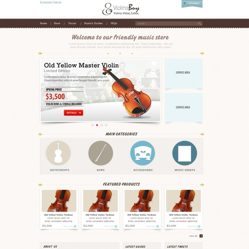 ViolinsBuy.com needs website design