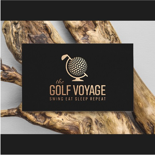 Golf Voyage - travel inspired logomark