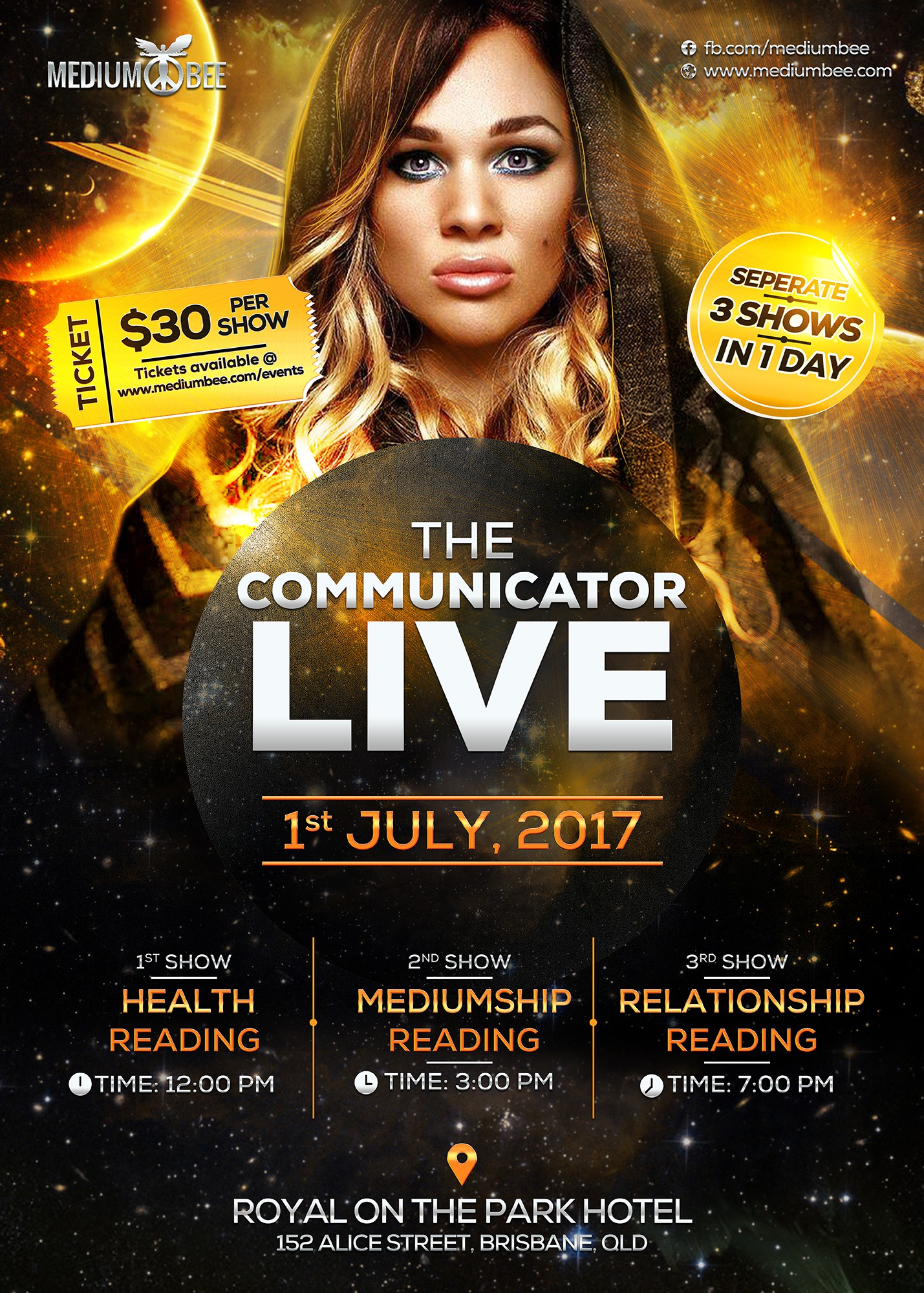 Promo Poster for upcoming spiritual/psychic Show