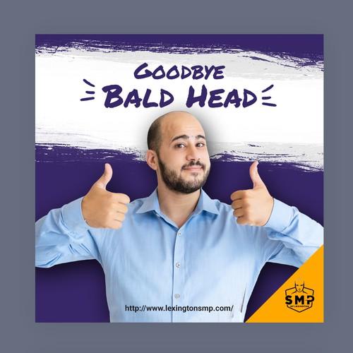 Banner ad design for hair solution