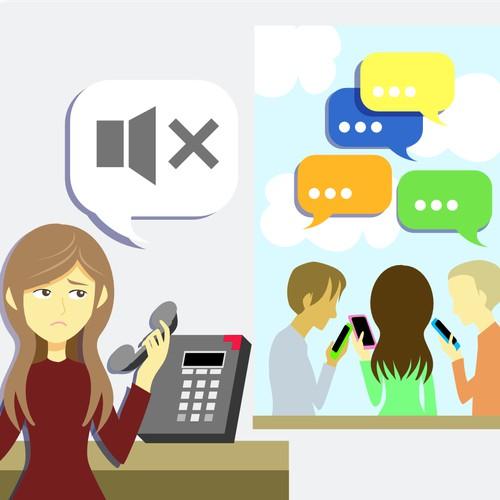 text message marketing illustration