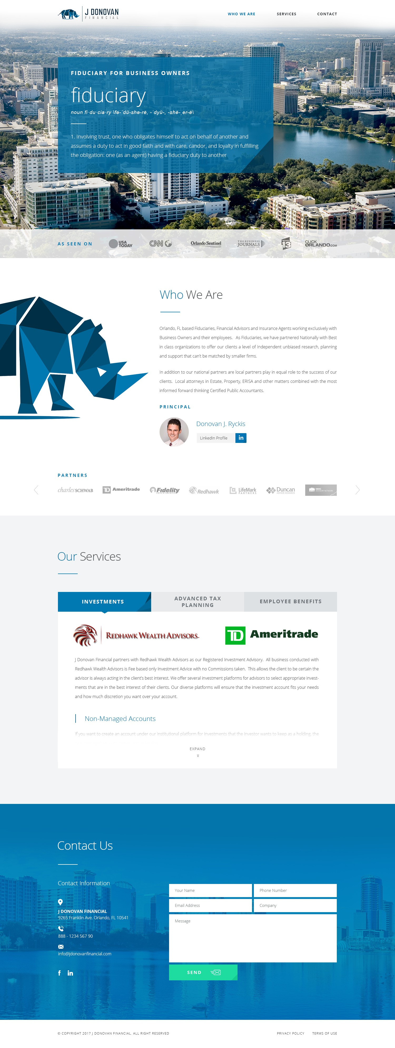 Simple Elegant Wordpress for Financial Advisor