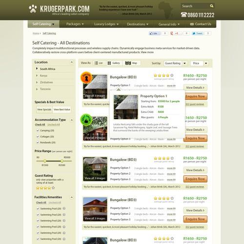 Web design needed for KrugerPark.com