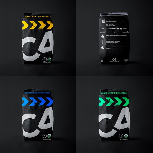 Coffe Bag Packaging Design for C4