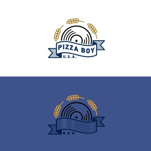 Logo concept for Pizza Boy