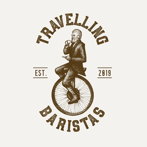 Travelling Baristas Logo Design