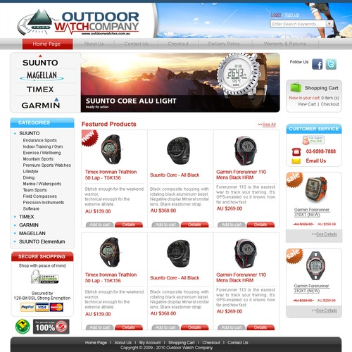 outdoor watch online store