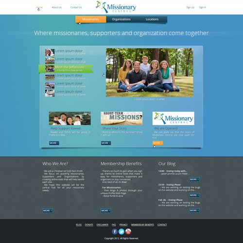 Missionary Central - Full site redesign